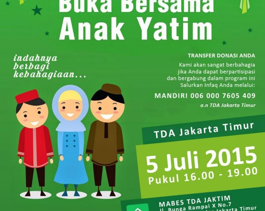 5 Juli 2015 Buka Puasa Bersama Anak Yatim
